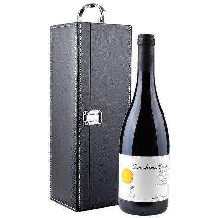 澳大利亚阳光酒庄精选西拉红葡萄酒送黑色单支皮盒