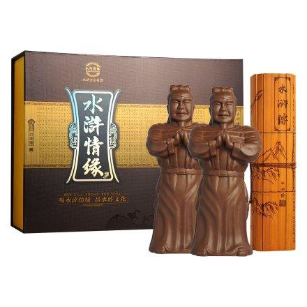 【清仓】52°水浒情缘品藏版礼盒500ml*2