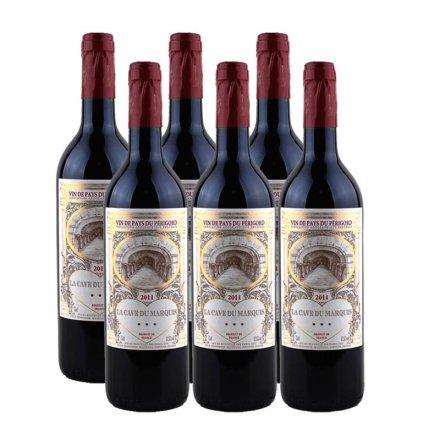 法国男爵窖藏波尔多干红葡萄酒(6瓶装)