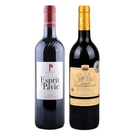 法国帕米世家干红葡萄酒+法国拉玛特雄狮堡干红葡萄酒2009