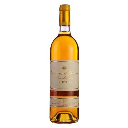 (列级庄·名庄·正牌)法国伊甘庄贵腐葡萄酒1994(又译:滴金酒庄)