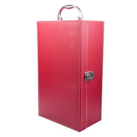 红色双支皮盒