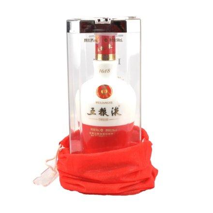 【老酒特卖】39°五粮液1618陶瓷瓶500ml(2012年)