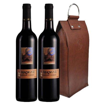 中国张裕邮票纪念版之张裕赤霞珠干红葡萄酒双支皮袋装