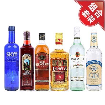 (清仓)深蓝伏特加+斯卡雅白兰地+格兰森威士忌+奥美加金龙舌兰+百加得超级朗姆酒+麦克美金酒