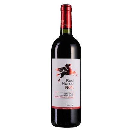 法国赤马1号特酿波尔多干红葡萄酒