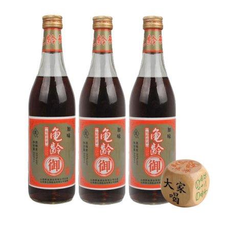 (清仓)30°加味龟龄御酒500ml(3瓶)+喝酒骰子