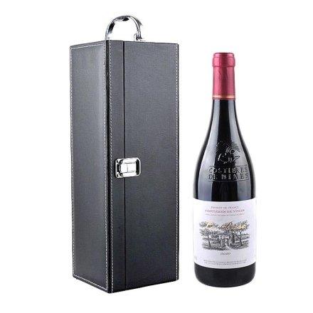 法国博斯克干红葡萄酒+黑色单支皮盒