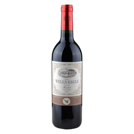 【清仓】法国威尔斯鹰美乐干红葡萄酒