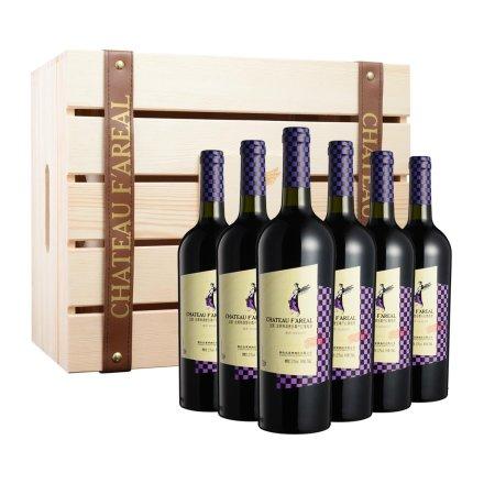 法莱雅酒堡美乐干红葡萄酒(高档木箱装)750ml*6