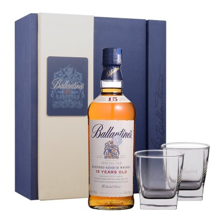 43°英国百龄坛15年苏格兰威士忌礼盒700ml