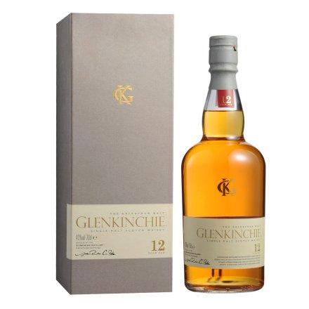 43°格兰昆奇12年单一麦芽苏格兰威士忌700ml