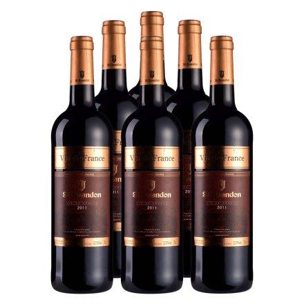 法国圣堡兰帝干红葡萄酒750ml(6瓶装)