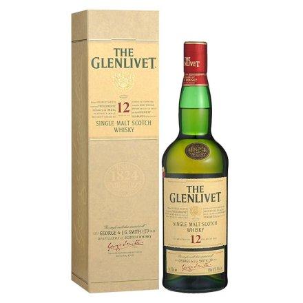 40°英国格兰威特单一麦芽苏格兰威士忌12年750ml