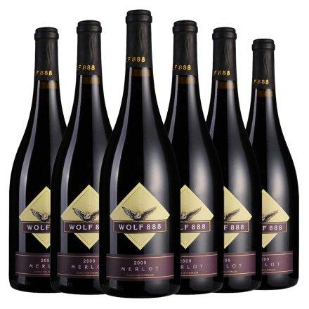 澳洲禾富888美乐2009年干红葡萄酒750ml(6瓶装)