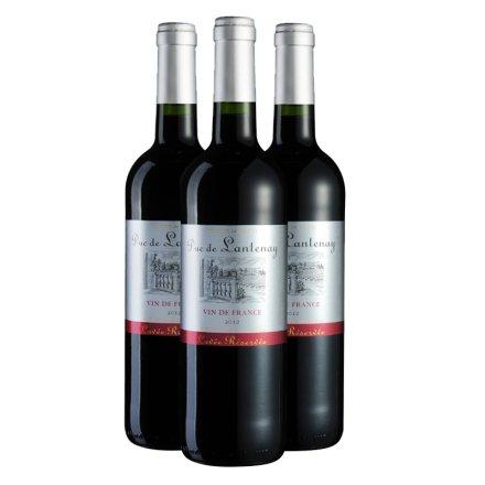 法国朗特公爵干红葡萄酒750ml(3瓶装)