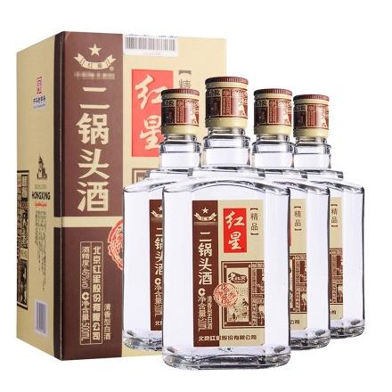 (清仓)46°红星二锅头四合院500ml(4瓶装)(重复勿用)
