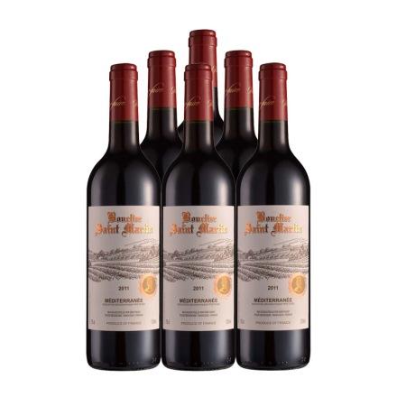 法国圣马丁骑士庄园干红葡萄酒750ml(6瓶装)