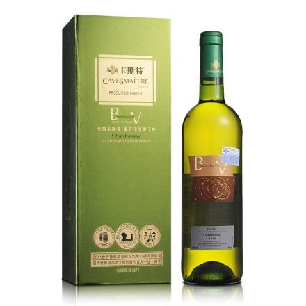 13°法国卡斯特帝亚莎当妮干白葡萄酒750ml