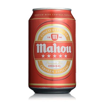 5.5°马奥五星啤酒罐装330ml