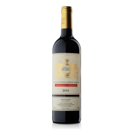 法国进口红酒郁金香庄优质波尔多干红葡萄酒