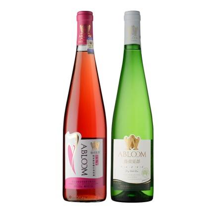 盛世夏都J.L.V简爱视觉桃红葡萄酒750ml+盛世夏都堡易干白650ml