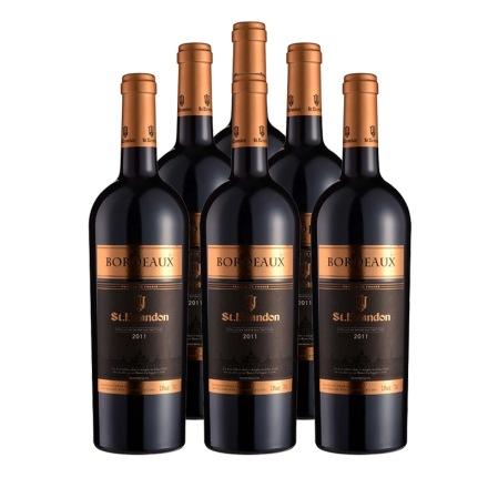 法国圣堡兰帝波尔多葡萄酒750ml(6瓶装)