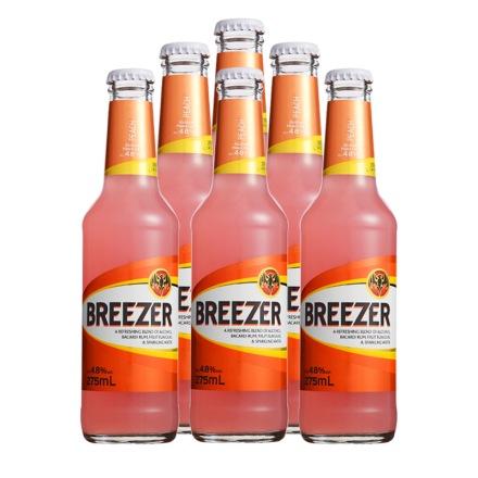 4.8°百加得冰锐朗姆预调酒蜜桃味275ml(6瓶装)