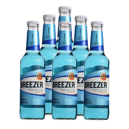 4.8°百加得冰锐朗姆预调酒蓝莓味275ml(6瓶装)