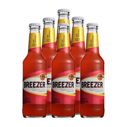 4.8°百加得冰锐朗姆预调酒葡萄柚味275ml(6瓶装)