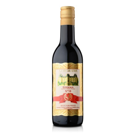 法国拉维之星18号波尔多红葡萄酒187ml