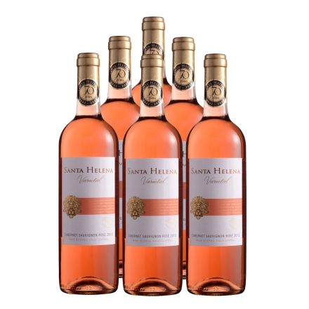 智利圣海莲娜赤霞珠桃红葡萄酒750ml(6瓶装)