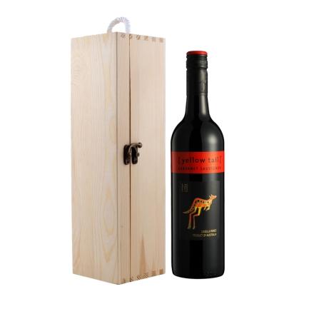 澳大利亚黄尾袋鼠加本力苏维翁干红葡萄酒+单支松木盒