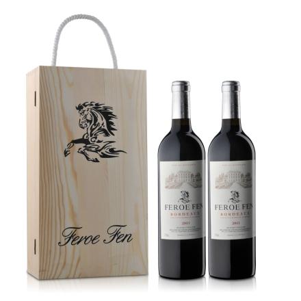 法国法罗芬波尔多AOC干红葡萄酒双支礼盒750ml*2