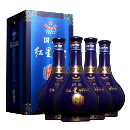 42°国藏红星蓝彩500ml(4瓶装)