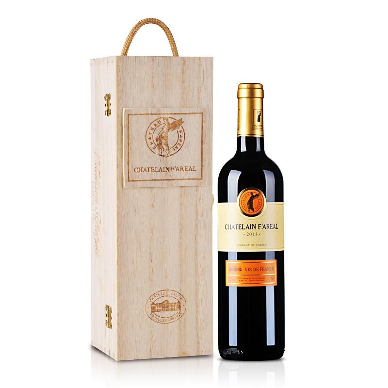 法国法莱雅f13原瓶进口干红葡萄酒高级木礼盒750ml