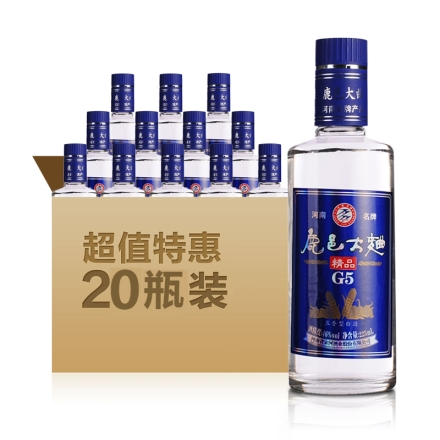 46°鹿邑大曲精品G5 225ml(20瓶装)