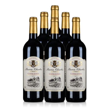 法国AOC科比埃法定产区红葡萄酒750ml(6瓶装)