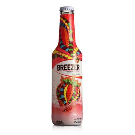 4.8°百加得冰锐假日瓶版-草莓味275ml