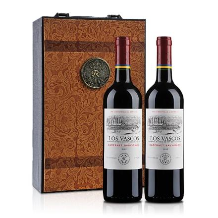 拉菲智利巴斯克卡本妮苏维翁红葡萄酒双支礼盒装