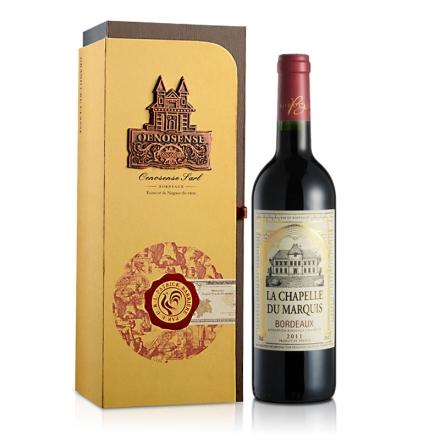 法国男爵小教堂波尔多2011干红葡萄酒礼盒装