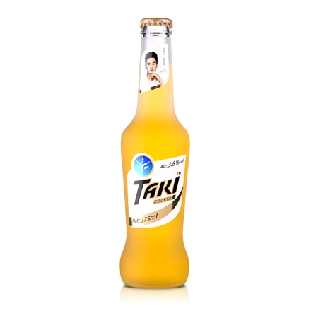 3.8°达奇TAKI香橙味伏特加鸡尾酒(预调酒)夜场装275ml