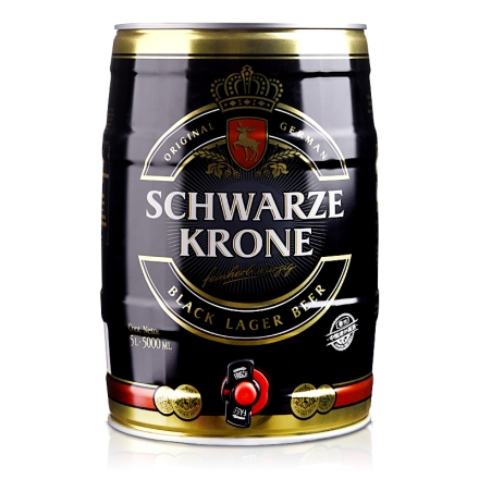 德国施瓦皇冠黑啤酒5L