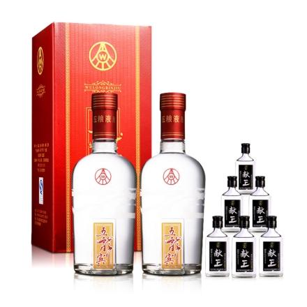 52°五粮液五龙宾红樽500ml(双瓶装)+42°献王特曲125ml(6瓶)