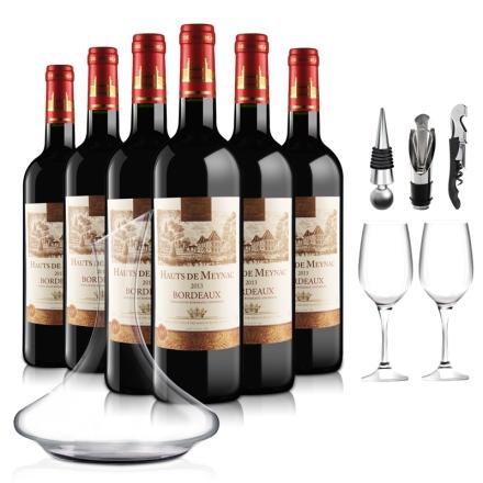 法国波尔多AOC美雅客干红葡萄酒品酒大礼包