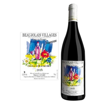 法国博若莱新酒村庄级老藤-- 圣维夫干红葡萄酒750ml