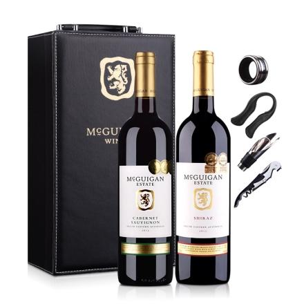 澳大利亚麦格根庄园西拉+赤霞珠红葡萄酒双支礼盒