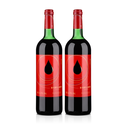 中国通天红色时代甜红山葡萄酒1000ml(双瓶装)