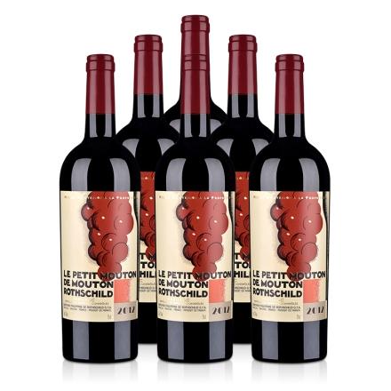 (列级庄·名庄·副牌)木桐酒庄2012干红葡萄酒750ml(6瓶装)