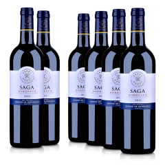 法国拉菲传说 2015 波尔多法定产区红葡萄酒750ml(6瓶装)